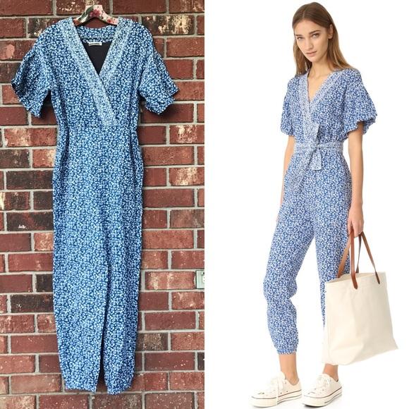 a69af8d1aaa Ulla Johnson Pants - ULLA JOHNSON Reiko Jumpsuit- Blue Paisley Floral